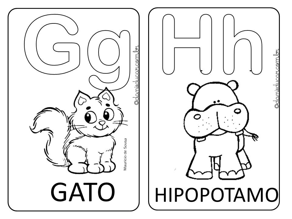 Alfabeto Ilustrado Para Colorir Dani Educar