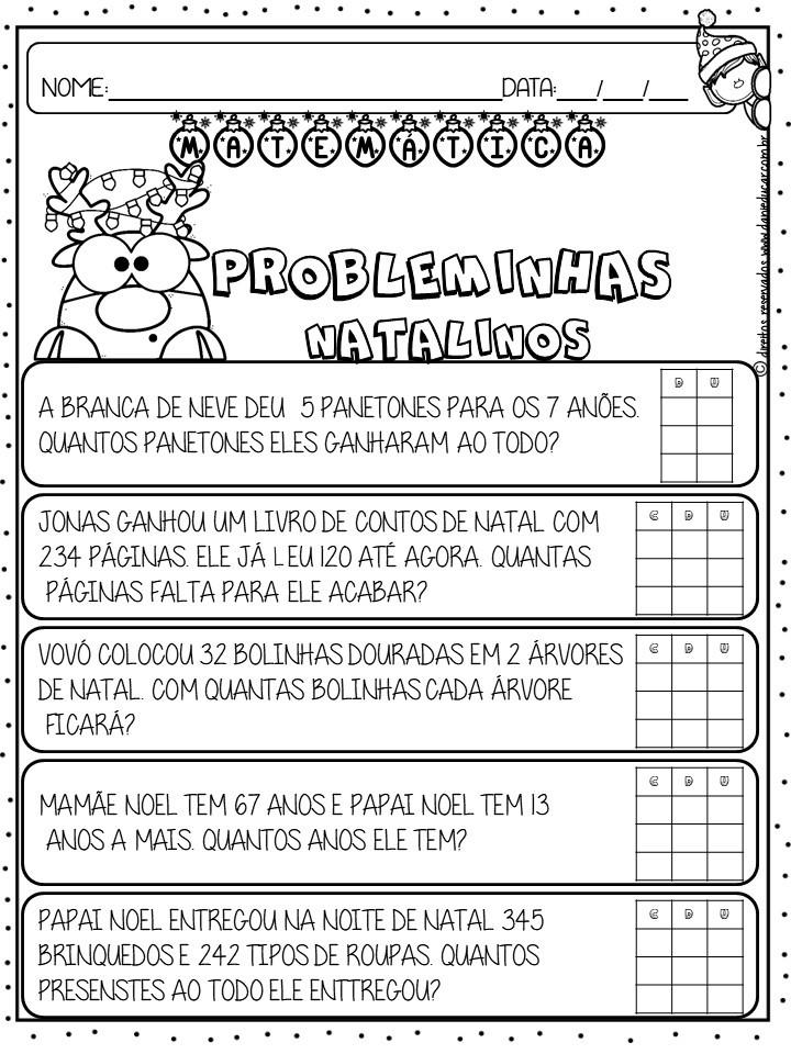 Atividades De Matematica Situacao Problema