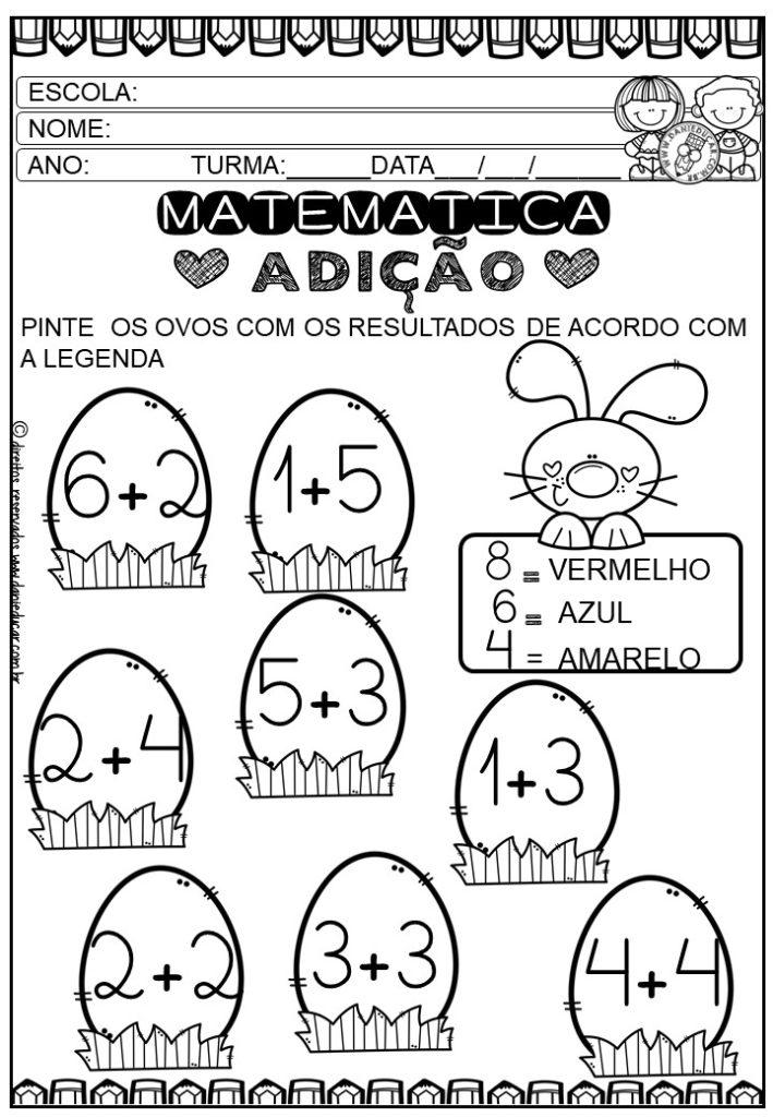 Atividades De Matematica Adicao E Subtracao Dani Educar