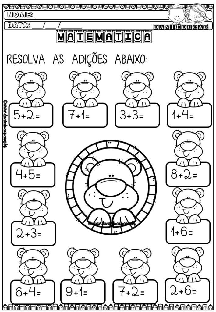Matemática 1 ano - adição